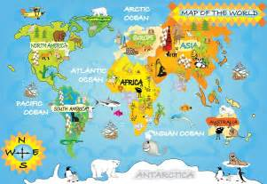 Childrens Wall Maps Childrens Map Wall Mural World Map Wallpapers