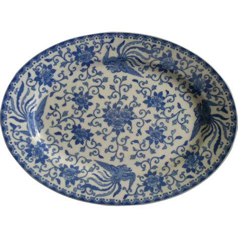 blue pattern porcelain noritake blue white porcelain howo pattern oval
