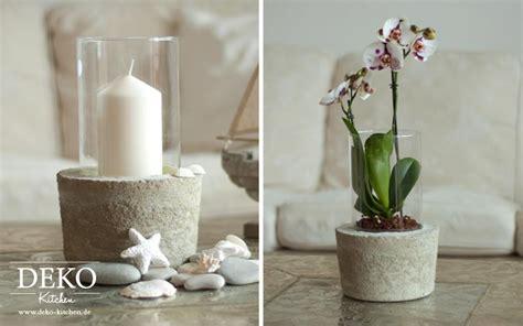 diy coole deko vase mit betonsockel deko kitchen