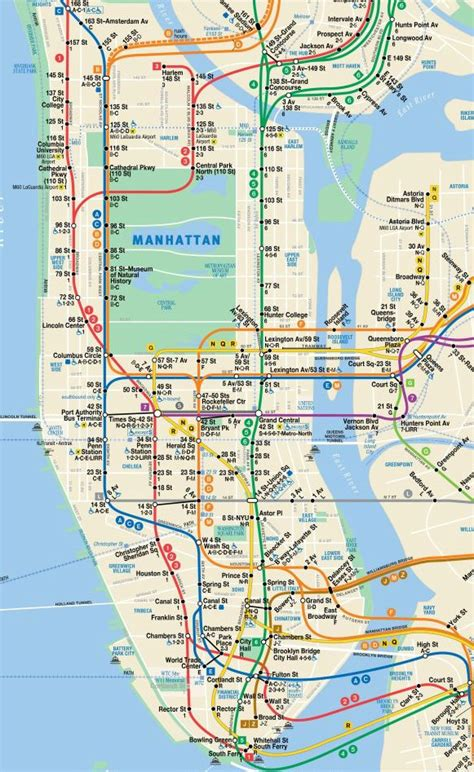 map of manhattan new york city image gallery nyc manhattan map