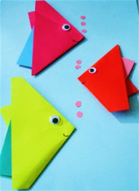 Make Origami Fish - learning ideas grades k 8 how to make origami fish