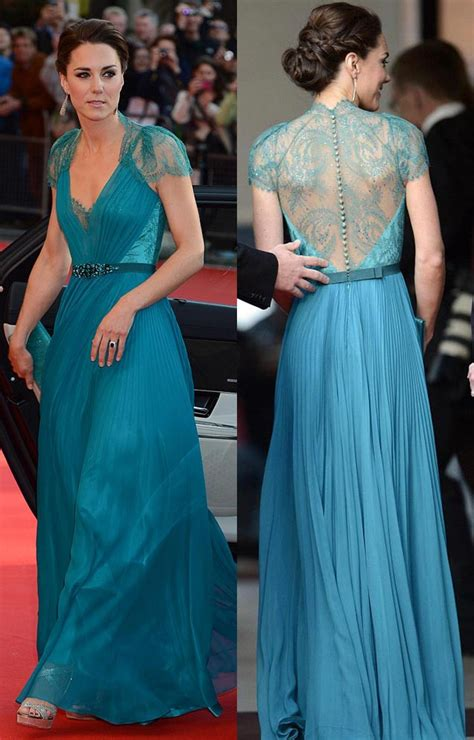 kate middleton dresses kate middleton looks stunning in teal dress gown at london