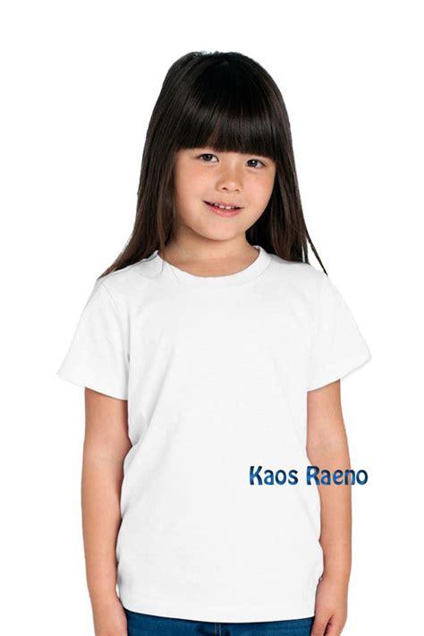 Word O Happy T Shirt Lengan Pendek Putih 1 jual 2 tshirt kaos polos anak model o neck unisex lengan pendek putih kaos raeno