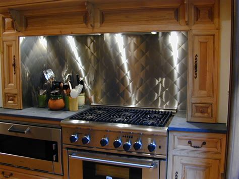 Stainless Steel Kitchen Backsplash Stainless Steel Backsplash Custom Contemporary Kitchen Other Metro By Custom