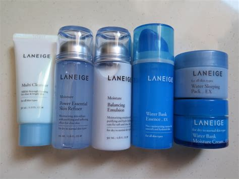 Laneige Essential Care Trial Set the blackmentos box review laneige moisture new essential care trial set 6 mini
