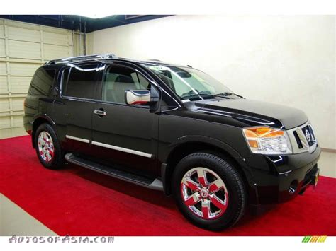 black nissan armada 2010 nissan armada platinum in galaxy black metallic