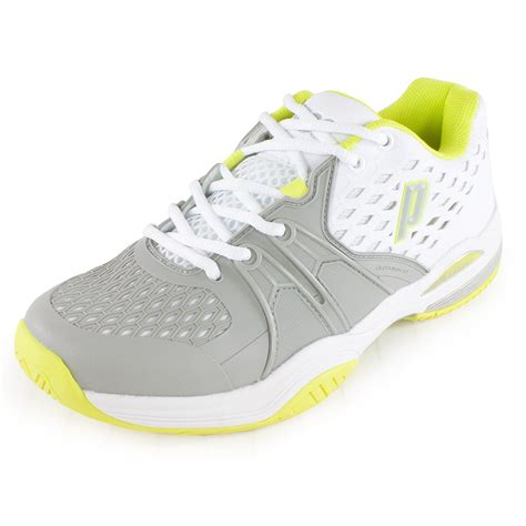 prince womens warrior tennis shoes white gray