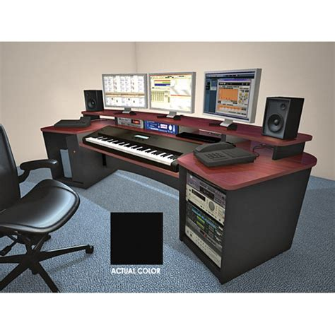 omnirax presto studio desk black omnirax k88 keyboard composing workstation frck88 b b h