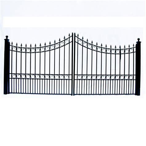 dual swing gate moscow style dual swing steel driveway gate 12 18