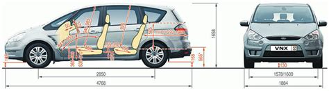 S Max Interior Dimensions by Ford S Max Galaxy