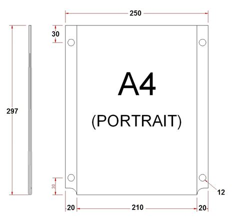 How To Make A4 Size Paper - image gallery measurements a4