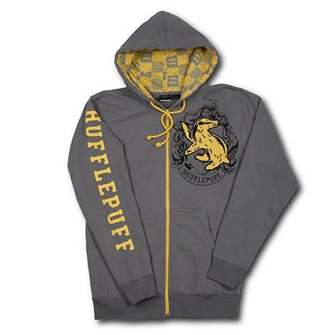 Sweater Jaket Harrypotter wizarding world of harry potter hufflepuff crest hoodie