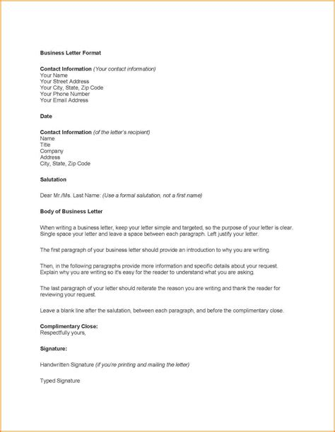 Business Letter Correspondence business correspondence template letters free sle