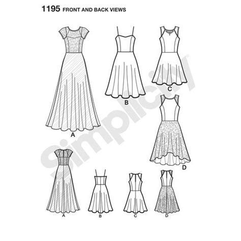 pattern review simplicity 1195 pattern for misses and miss petite special occasion dress