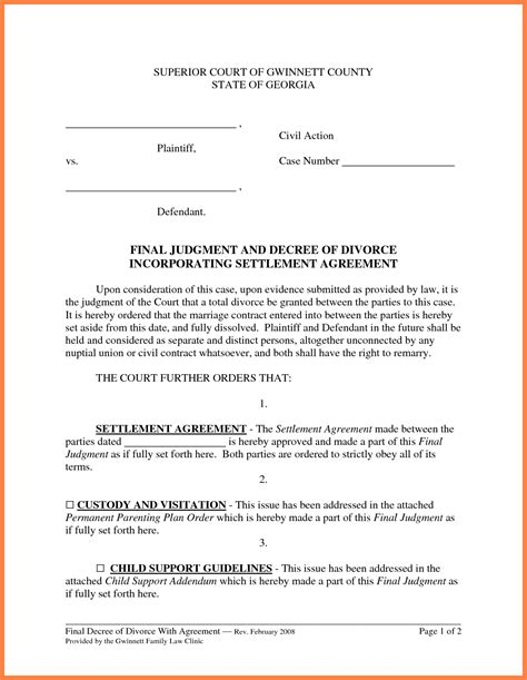 6 Marital Settlement Agreement Marital Settlements Information Marital Settlement Agreement Template