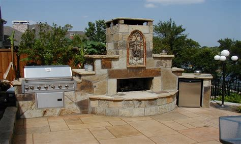 swimming pool set  outdoor fireplace  bbq designs