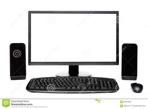 Set Desktop by Black Desktop Computer Set Stock Image Image Of Hdtv