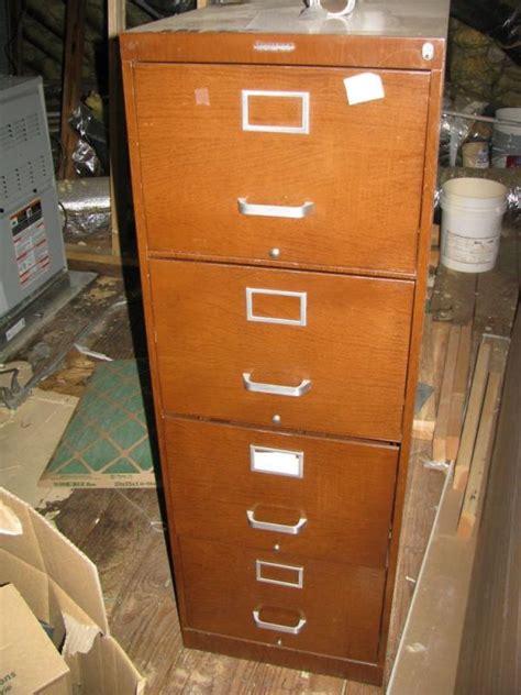 Statesman 4 Drawer Metal Wood Grain Look File Cabinet Wood Grain File Cabinet