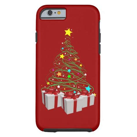 christmas gifts and tree tough iphone 6 case zazzle