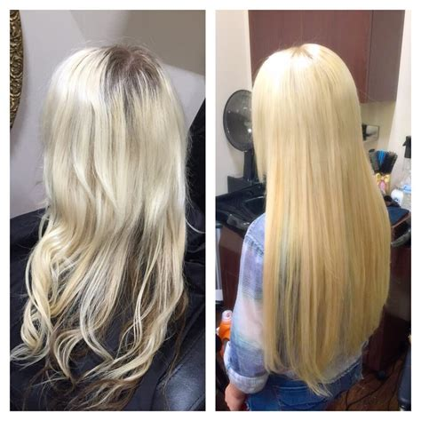 22 inch hair extensions before and after before and after removal of hot fusion extensions and