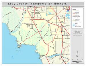 map of levy county florida levy county road network color 2009