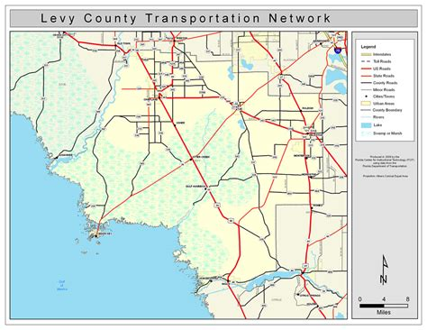 Levy County Search Levy County Road Network Color 2009