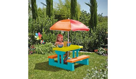 toddler bench table kids table and bench set home garden george at asda