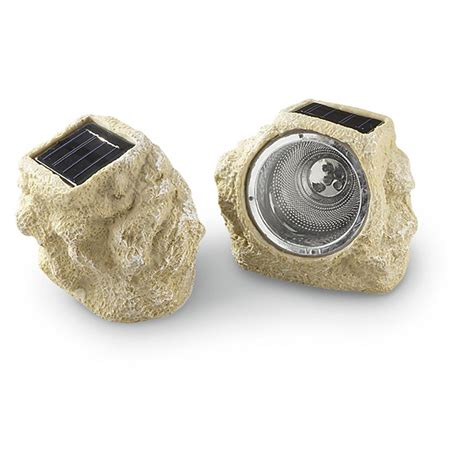 Rock Solar Lights 2 Rock Solar Lights 158838 Solar Outdoor Lighting At