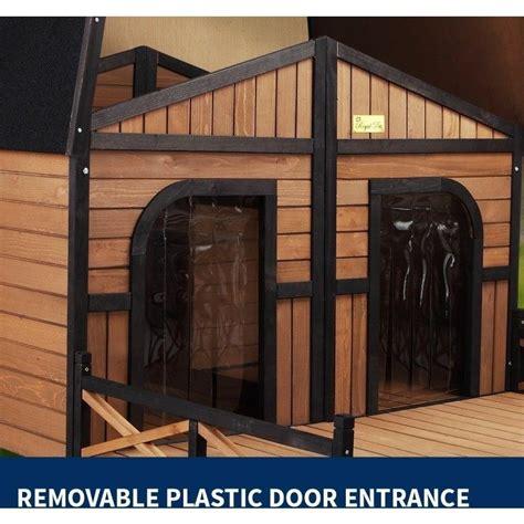 2 door dog house xxl outdoor wooden waterproof 2 door dog kennel buy wood dog houses