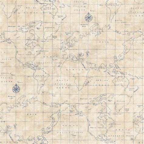 Allen Roth Wallpaper by Allen Roth Blue Grid Map Wallpaper Traditional