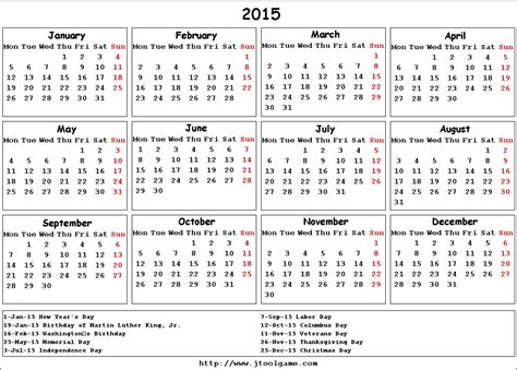 Calendar Usa 2015 2015 Calendar With Holidays Usa Pictures To Pin On