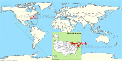 Nyc Search New York City On World Map New York Map