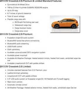 Subaru Crosstrek Dimensions New 2013 Subaru Xv Crosstrek Information Tucson Az