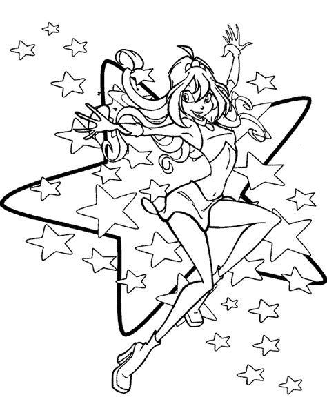 Fairy Coloring Pages Folk Coloring Pages
