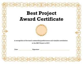 Project Certificate Template by Certificate Templates