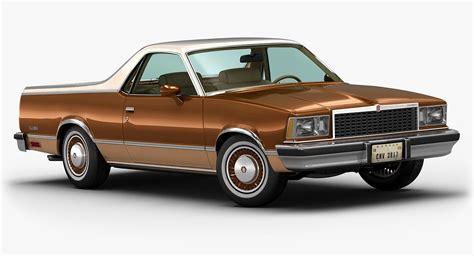 camino 3d 1978 chevrolet el camino 3d model