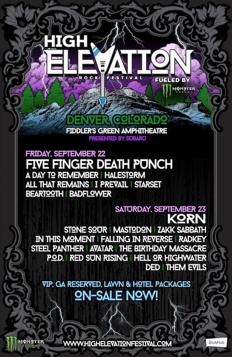 Feast Release September 22 by Daily Band Lineups Announced For High Elevation Rock