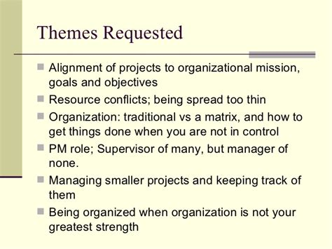 Masters In Organizational Management Vs Mba by Project Management