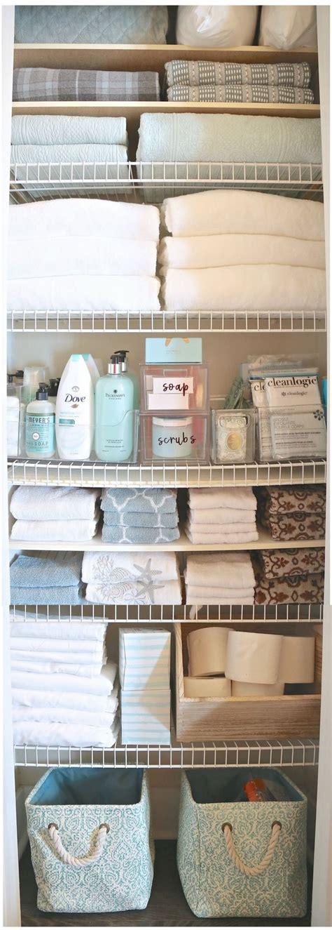 how to organize bathroom closet 25 best ideas about linen storage on pinterest organize