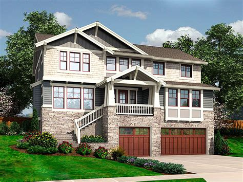front sloping lot house plans for the front sloping lot 23404jd architectural designs house plans
