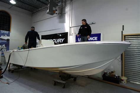 fiberglass boat rub rail installing the rub rail on the 1979 23 mako babylon boat