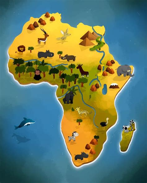 africa map for students africa on