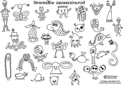 how to draw doodle monsters doodle monsters how to draw doodles sketches and pencil