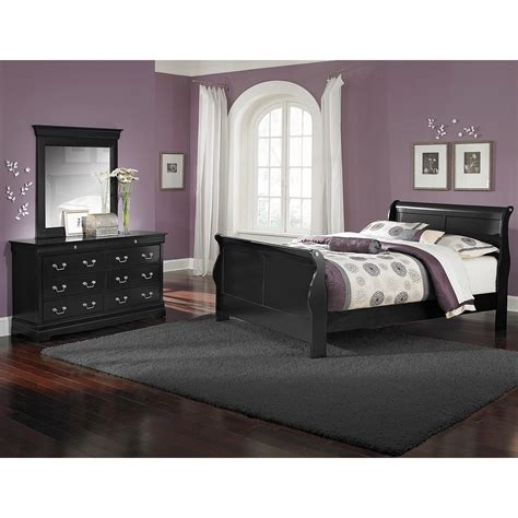 and black bedroom set value city furniture