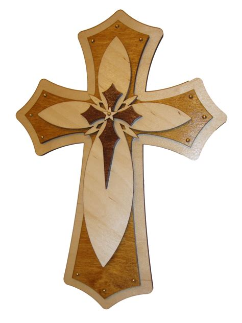 Decorative Cross by Decorative Wood Cross Layered Wooden Crosses 15 Inch