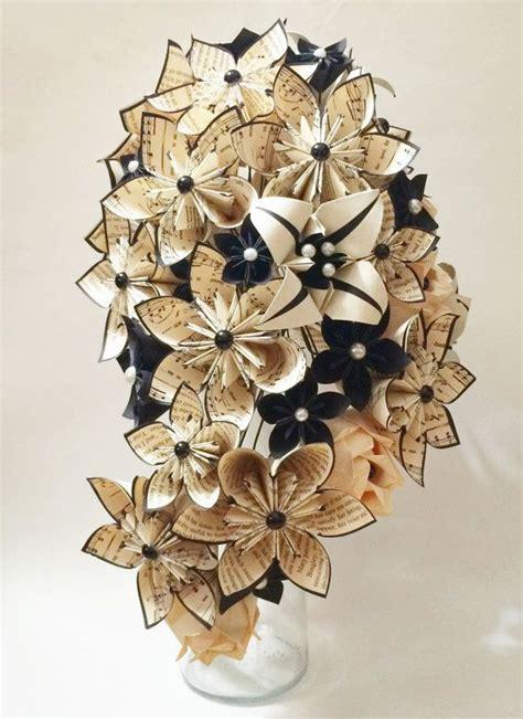 Flower Paper Bouquet cascading bouquet paper bouquet one of a origami