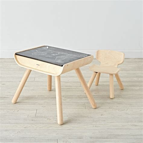 desk and chair set wooden play table chair sets the land of nod