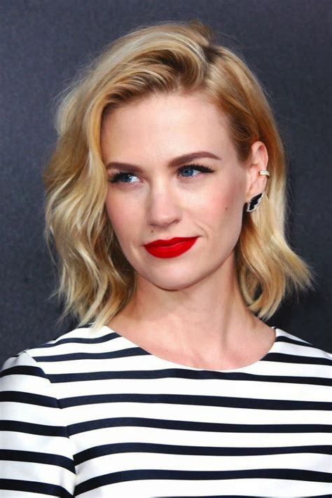 blonde bob red lips top 20 hairstyles for long faces the most flattering cuts