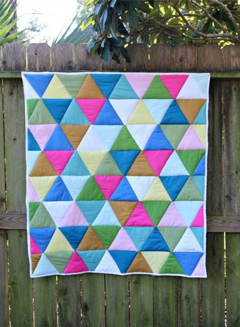 triangle quilt pattern tutorial one day triangle quilt tutorial favequilts com