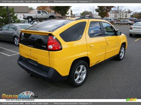 pontiac aztek yellow aztek autos post